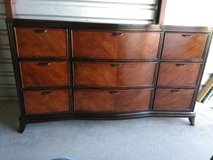 Beautiful solid wood dresser with 9 drawers and mirror in El Paso, Texas