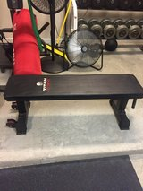 Flat bench in Fort Jackson, South Carolina