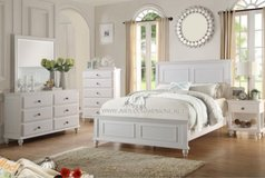 WHITE QUEEN BED FRAME FREE DELIVERY in Huntington Beach, California