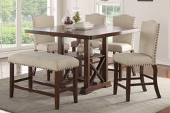 6PC COUNTER HEIGHT DINING SET FREE DELIVERY in Huntington Beach, California