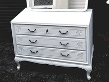 White Chippendale dresser in Ramstein, Germany