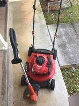Lawnmower and weed eater in Okinawa, Japan