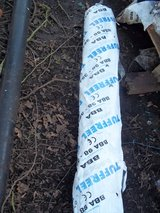Roll of Black Heavy Duty polythene in Lakenheath, UK