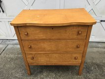 Antique Straus & Schram wood 3 Drawer Dresser in Beaufort, South Carolina