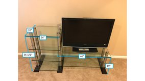 Glass & Stainless Steel Entertainment Center in Oswego, Illinois