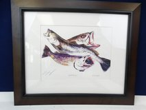 Signed Trout Print in Nice Wood Frame in Alvin, Texas