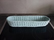 Long light blue wicker basket in Baumholder, GE