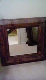 Square wood mirror in Plainfield, Illinois