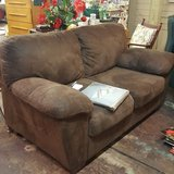 Brown Microfiber Suede Loveseat in Cleveland, Texas