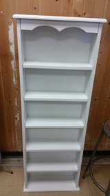 White book shelf in Plainfield, Illinois