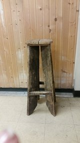 Tall barnwood stools or plant stands(2) in Naperville, Illinois