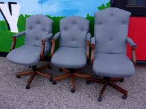 Blue Padded Office Chair in Fort Riley, Kansas