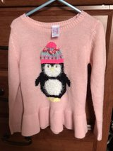 Girls Cat & Jack pink penguin sweater, size 5T in Bolingbrook, Illinois