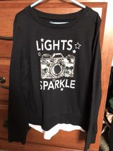 Justice 'Lights Sparkle' shirt, size 8 in Bolingbrook, Illinois
