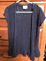 Justice navy sparkly cardigan, size 5 in Bolingbrook, Illinois