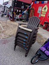 Set of Six Outdoor Chairs With Pads in Fort Riley, Kansas