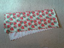 Strawberry table runner in Fort Irwin, California
