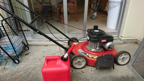 20 in. 125cc OHV Briggs & Stratton Gas Push Mower and gas can in Okinawa, Japan