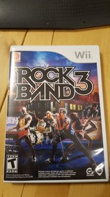 Rock Band 3  game and 2 guitars plus Keyboard and Drums and mic in Bolingbrook, Illinois