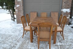 Table and chairs. cane chairs. leaves for table. DREXEL in Morris, Illinois