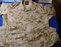 Desert cammies MR tops LR bottom and Sm cover in Camp Pendleton, California