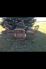 Glass Top Table with 4 Chairs in Sugar Grove, Illinois