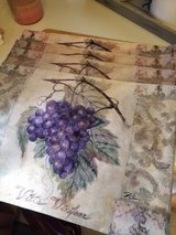 4 Wine/Grape Placemats in Travis AFB, California