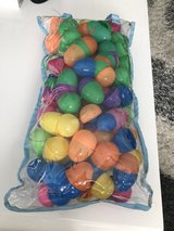 Plastic colorful easter eggs in Ramstein, Germany