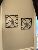 12 x 12 metal wall art with candle holder in Joliet, Illinois