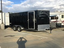 7x16 ENCLOSED V-NOSE TANDEM TRAILER in Camp Pendleton, California
