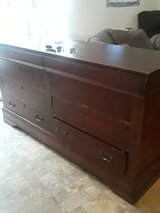 wooden coffee color 6 drawer dresser with two drawers on top with felt in Spring, Texas