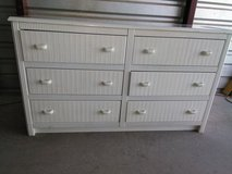 6 drawers dresser with a headboard queen- full size in El Paso, Texas