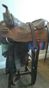 "Billy Cook 16"" Hand Made Saddle with Breast Collar - $550 (Aguanga) in Camp Pendleton, California"