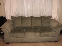 Light Grey suede couch & loveseat in 29 Palms, California