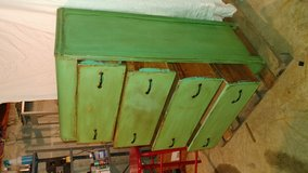 Country Green Shabby Chic Dresser in Fort Leonard Wood, Missouri