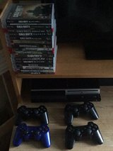 PS3+4 CONTROLLERS+16 GAMES in Okinawa, Japan