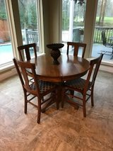 Round Antique Table with 4 chairs in Houston, Texas
