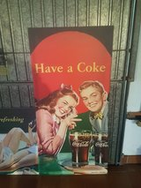 vintage Coca-Cola signs circa 1940s in Ramstein, Germany