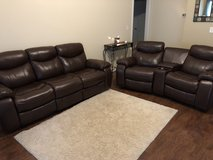 Leather living room set in Clarksville, Tennessee