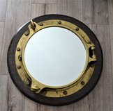 Real Brass Ship Portal Mirror Sale or Trade in Ramstein, Germany