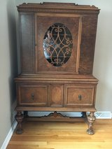 Antique Jacobean Style 8 pc Dining Set with 5 leaves in Naperville, Illinois