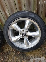 "18"" mustang polished bullet wheel and tire in Kingwood, Texas"