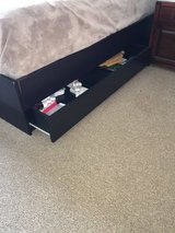 Queen bed frame with drawers in Bolingbrook, Illinois