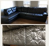Bonded leather sofa sectional in Bolingbrook, Illinois