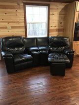 4 Piece Leather Couch Theater Recliner in Fort Leonard Wood, Missouri