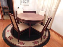 WOW Dillingham MCM Mid Century Modern Danish Dining room table 4 chairs & Credenza in Naperville, Illinois