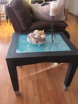 beautiful wood table with glass top in Alamogordo, New Mexico
