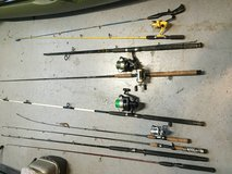 Lot of fishing rods *cheap* in Fairfield, California