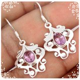New - Natural Light Purple Amethyst 925 Sterling Silver Earrings in Alamogordo, New Mexico