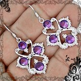 New - Purple Amethyst Quartz 925 Sterling Silver Earrings in Alamogordo, New Mexico